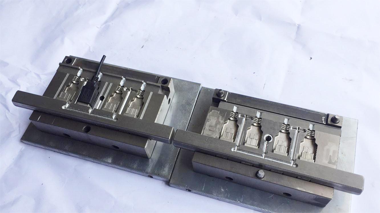USB母头成型模具开发